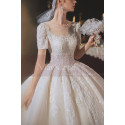 copy of Top Lace White Simple Wedding Gown With Thin Strap - Ref M1252 - 04