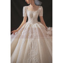 copy of Top Lace White Simple Wedding Gown With Thin Strap - Ref M1252 - 06