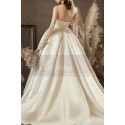 copy of Top Lace White Simple Wedding Gown With Thin Strap - Ref M1253 - 03