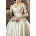 copy of Top Lace White Simple Wedding Gown With Thin Strap - Ref M1253 - 02