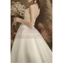 copy of Top Lace White Simple Wedding Gown With Thin Strap - Ref M1253 - 04