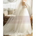 copy of Top Lace White Simple Wedding Gown With Thin Strap - Ref M1254 - 05