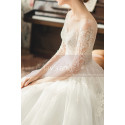 copy of Top Lace White Simple Wedding Gown With Thin Strap - Ref M1254 - 06