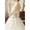 copy of Top Lace White Simple Wedding Gown With Thin Strap - Ref M1254 - 02