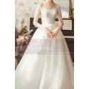 copy of Top Lace White Simple Wedding Gown With Thin Strap - Ref M1254 - 03