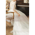 copy of Top Lace White Simple Wedding Gown With Thin Strap - Ref M1254 - 04