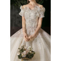 copy of Top Lace White Simple Wedding Gown With Thin Strap - Ref M1255 - 03