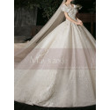 copy of Top Lace White Simple Wedding Gown With Thin Strap - Ref M1255 - 05
