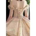 copy of Top Lace White Simple Wedding Gown With Thin Strap - Ref M1256 - 02