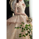 copy of Top Lace White Simple Wedding Gown With Thin Strap - Ref M1256 - 06