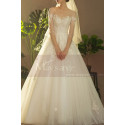 Illusion Bodice A-Line Country Style Wedding Dresses Tulle - Ref M1258 - 05