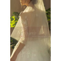 Illusion Bodice A-Line Country Style Wedding Dresses Tulle - Ref M1258 - 06
