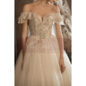 copy of Top Lace White Simple Wedding Gown With Thin Strap - Ref M1259 - 06