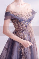 copy of Silver Gray Tulle Vintage Princess Prom Dress With Neck Tie - Ref L2020 - 06
