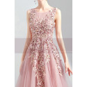 copy of Silver Gray Tulle Vintage Princess Prom Dress With Neck Tie - Ref L2021 - 03