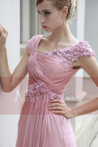 Pink evening dress - Dress Fleurs de printemps - PR033 #1