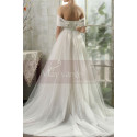 copy of Top Lace White Simple Wedding Gown With Thin Strap - Ref M1264 - 02