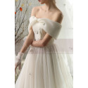 copy of Top Lace White Simple Wedding Gown With Thin Strap - Ref M1264 - 05