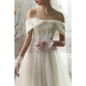 copy of Top Lace White Simple Wedding Gown With Thin Strap - Ref M1264 - 06