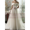 copy of Top Lace White Simple Wedding Gown With Thin Strap - Ref M1264 - 07