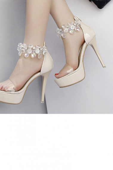 Affordable Sandal Pumps Light Champagne - CH100 #1