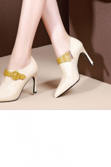 Bridal Ankle Boots Mustard Yellow Straps - CH116 #1