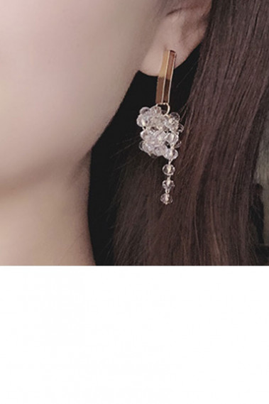 Trendy Gold engagement luxuy earrings - B100 #1