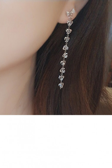 Beautiful crystal chain drop earrings - B099 #1
