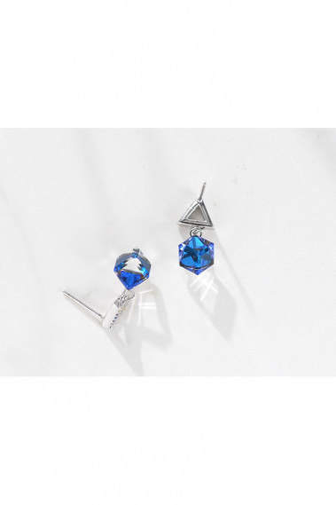 Cheap Wedding brass blue stud earrings - B089 #1