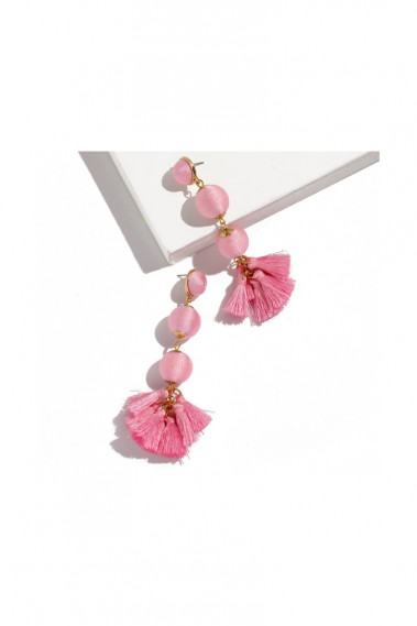 Beautiful Pink Tassel Drop Earrings - B0111 #1