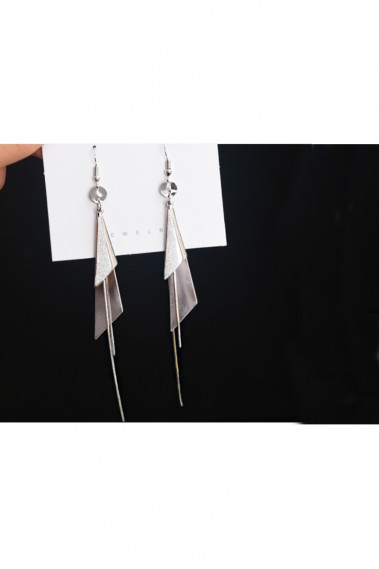 Crochet earrings dangling bar triangle - B097 #1