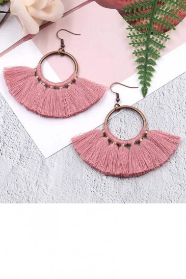 Trendy Pink funky earrings hook clasp - B0101 #1