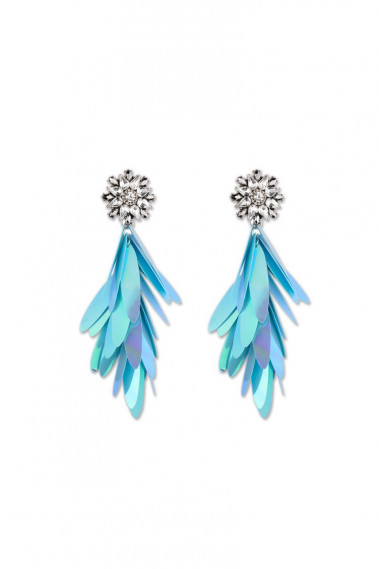 Trendy cheap stud fancy blue earrings - B0106 #1