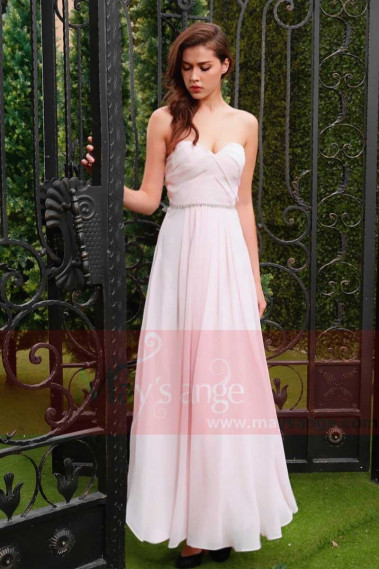copy of Long Chiffon Evening Dress With Rhinestone Straps - L784PROMO #1