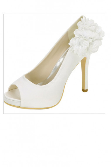 Pretty Open Toe Wedding Pumps For Bride - CH104 #1