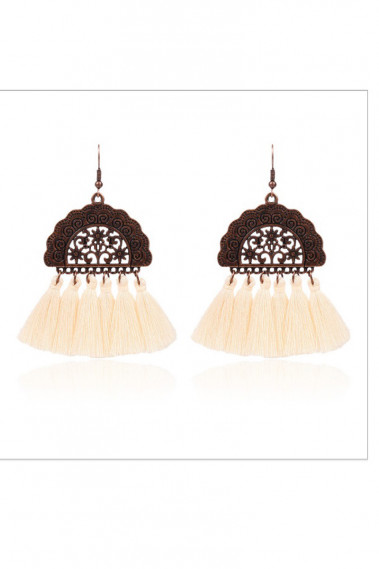 Pink fringe vintage wedding earrings - B0108 #1