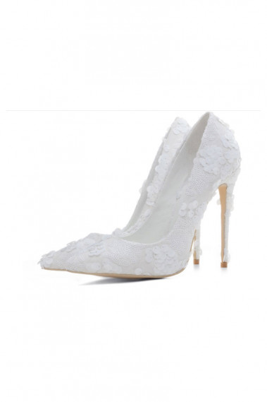 Pointed Heels Glitter Bridal Stilettos - CH106 #1