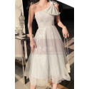Reception Dress For Bride In White With Large Single Strap Bow - Ref L1214 - 05