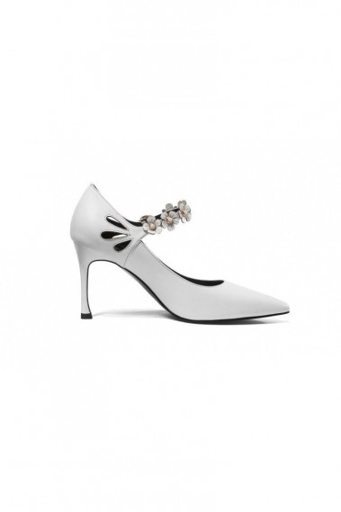 Elegant Bridal Shoes With Floral Straps - CH115 #1