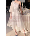 Asymmetrical White Ball Gown Prom Dresses In Tulle - Ref L1216 - 03