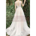 Lace Embroidered Backless Wedding Dresses Nude Color Lining - Ref M1281 - 03