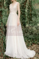 Lace Embroidered Backless Wedding Dresses Nude Color Lining - Ref M1281 - 04