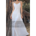 Simple White Backless Dress For A Beach Wedding Thin Straps - Ref M1303 - 02