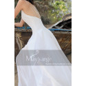 Simple White Backless Dress For A Beach Wedding Thin Straps - Ref M1303 - 03