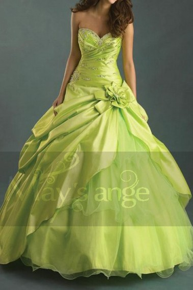 Green evening dress - Dress Eclat de pistache - P012 #1