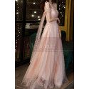 Gorgeous Peach Pink Bridesmaid Dress With Stylish Veil Top - Ref L2046 - 02