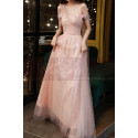 Gorgeous Peach Pink Bridesmaid Dress With Stylish Veil Top - Ref L2046 - 03