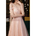Gorgeous Peach Pink Bridesmaid Dress With Stylish Veil Top - Ref L2046 - 04