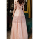 Gorgeous Peach Pink Bridesmaid Dress With Stylish Veil Top - Ref L2046 - 05