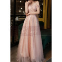 Gorgeous Peach Pink Bridesmaid Dress With Stylish Veil Top - Ref L2046 - 06